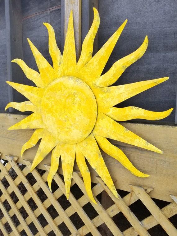 Garden Decor Metal Sun Wall Art Outdoor Wall Art Metal Sun