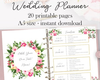 Wedding checklist etsy wedding planner printable wedding planner pages do it yourself binder printables checklist planning solutioingenieria Choice Image