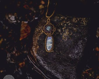 Moonstone and labradorite necklace