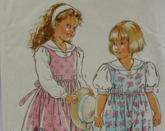 Simplicity 7417 Girl's Jumper, Blouse and Jumpsuit Sewing Pattern New / Uncut Size 3, 4, 5, 6, 7, 8