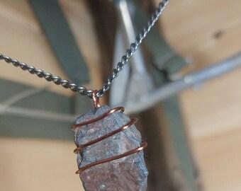 Handmade slate necklaces.