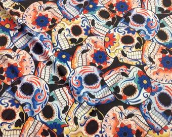 Sugar Skulls spandex fabric for costumes/dance/sports wear