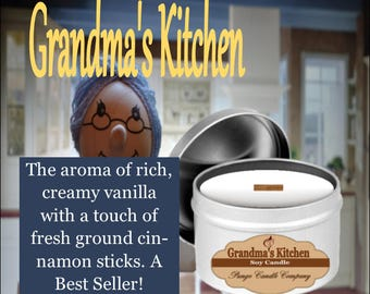 Grandma's Kitchen Scented Soy Candle Tin (8 oz.)