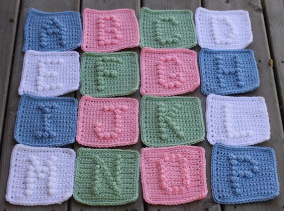 UPPER CASE Alphabet Letters A-Z Crochet Pattern with Bonus Heart Symbol - Crochet Baby Blanket Pattern -