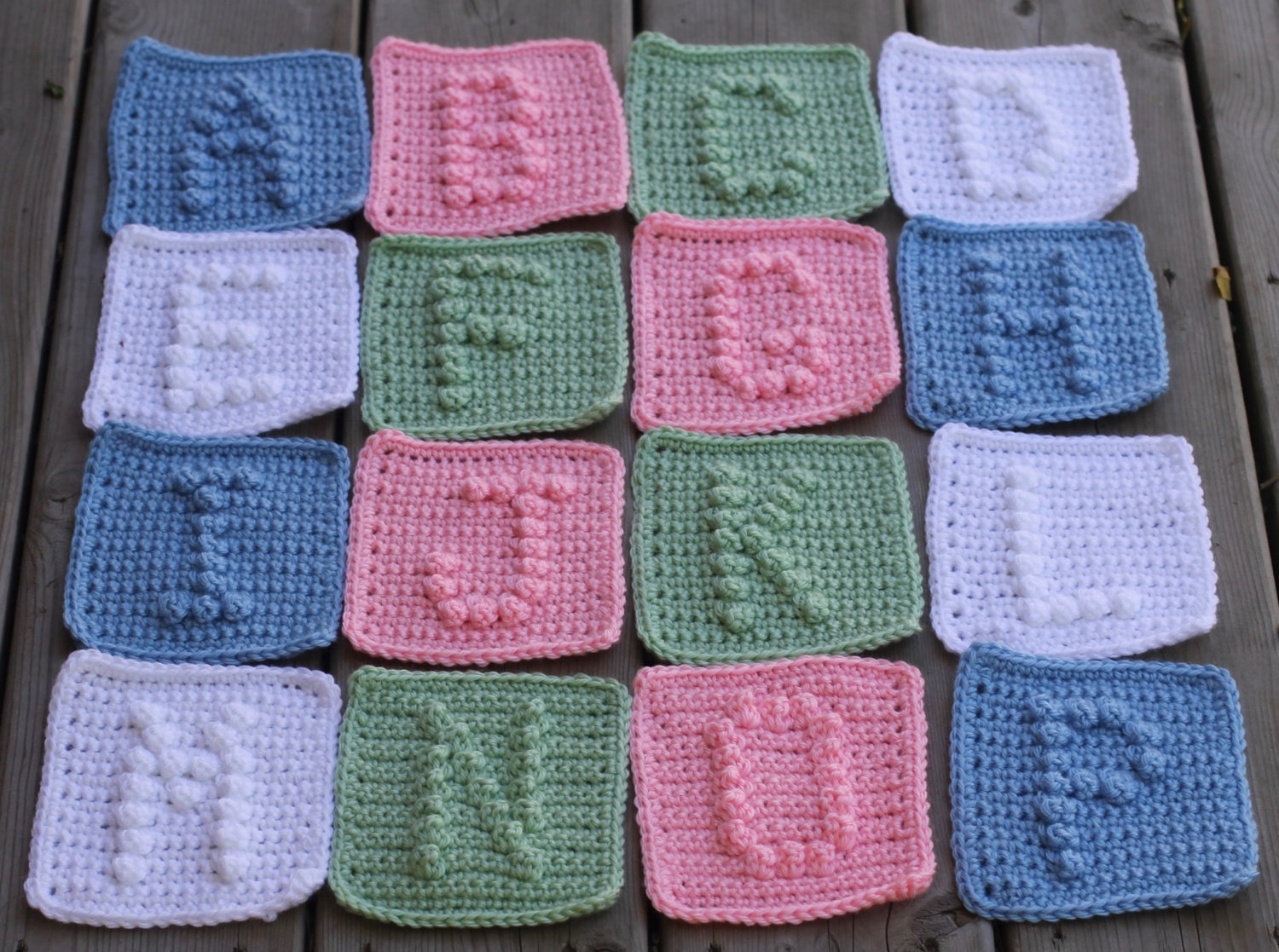 UPPER CASE Alphabet Letters A-Z Crochet Pattern with Bonus