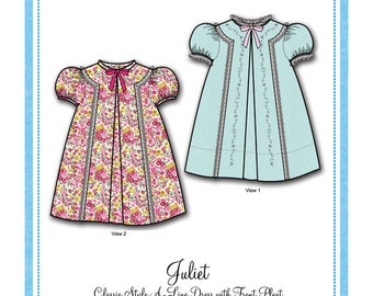 Bonnie Blue Pattern #152 / JULIET / Sizes 12 mo - 6 yr
