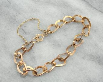 Vintage Gold Link Bracelet PJUZKK-R