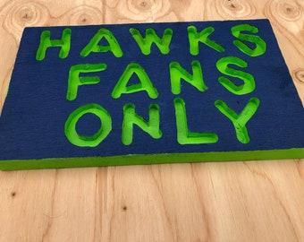 Seattle Seahawks fan wooden sign