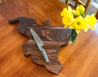 Cutting Board Customized to the Shape of Your Favorite Lake