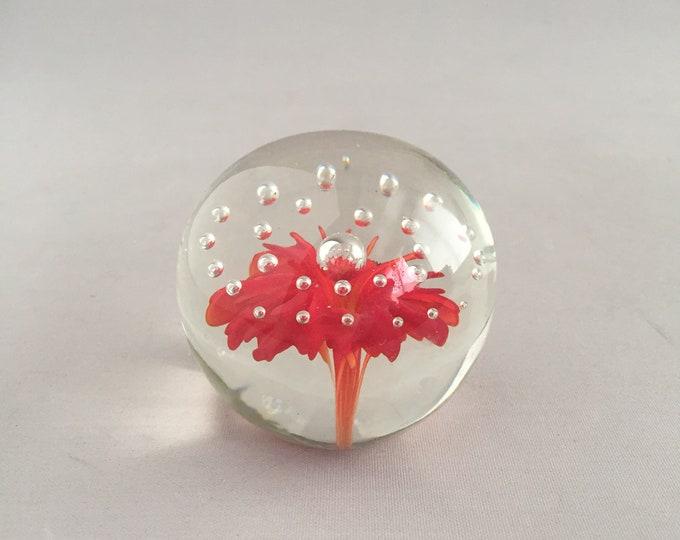 1960s Italian glass paper weight glass ball