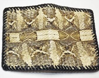 Wallet, Snake skin rare Gaboon viper thin ID wallet, Rare