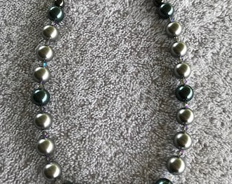 Necklace of Swarovski Beads and Crystals