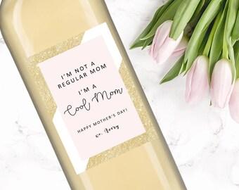 Mom Wine Bottle Label-mothers day-mom PRINTABLE-DIGITAL ITEM