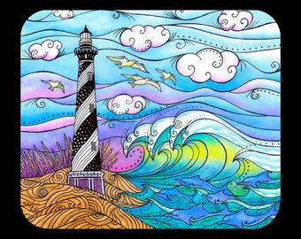 Hatteras Waves Mousepad for computers