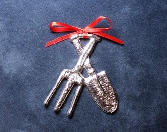 Pewter Garden Tools Ornament