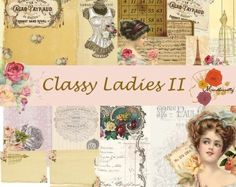 Classy Ladies II (Digital paper)