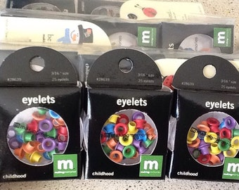 Making Memories Scrapbooking Eyelets 3/16 lot of 6