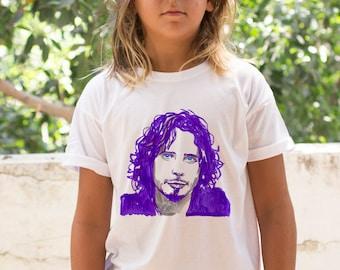 Chris cornell T-shirt, Original Toddler clothing, Unisex Cool Kids T shirt, Girl's T shirt, Music fashion,  Rock t shirt, Rock tshirt, Music