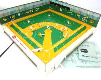 Electric Baseball Game Vintage 1960s Tudor Vintage game Family Game Night Electronic Ball Game Metal Lithograph