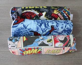 Superhero Burp Cloths (Set of 3)