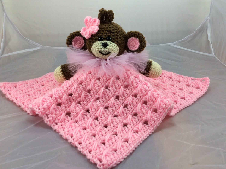Monkey Lovey or Security Blanket - PDF crochet pattern - Monkey ...