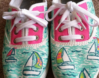 Lilly Pulitzer inspired shoes in Ugotta Regatta