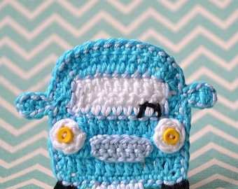 Crochet car appliqué - crochet pattern, DIY