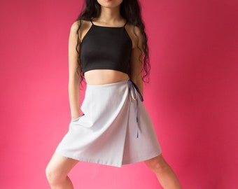 Light Grey Wrap Skirt - Size M/L