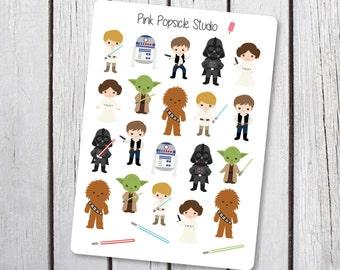 Star Wars Original Characters Planner Stickers Designed for the Erin Condren Life Planner