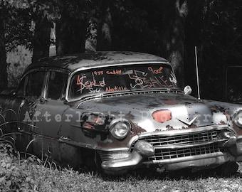 Vintage Old Car Photograph, Old Car Photo, Caddy, Vintage Decor, Vintage,