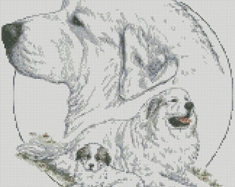 Cross Stitch Chart or Complete Kit The Great Pyrenees Dog