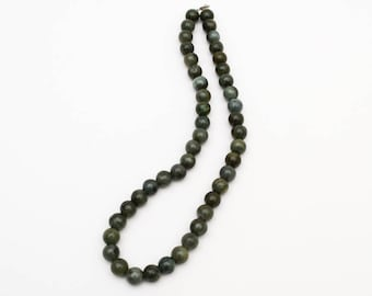 Use Code NEXT0RDER to get 10% off+ Free Shipping Dark Green Jade Necklace, Jade Bead Necklace, Beaded Necklace Handmade, Beaded Necklace