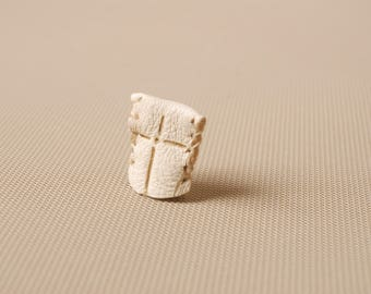 Natural Deerskin Leather Thimble, Finger Stall, Leather finger protecter, Cross thimble