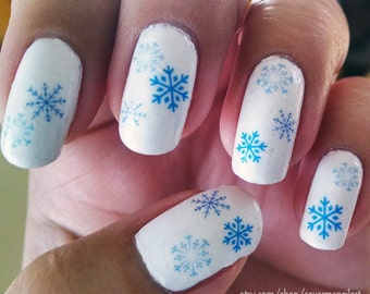 Snowflakes Water Slide Nail Decals