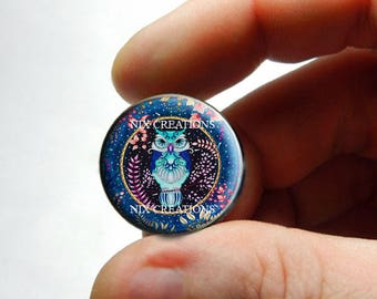 Retro Glass Owl Cabochon for Jewelry and Pendant Making - Design O4