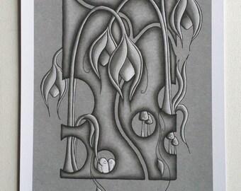 Organischen grauen Welt - Print - Limited Edition