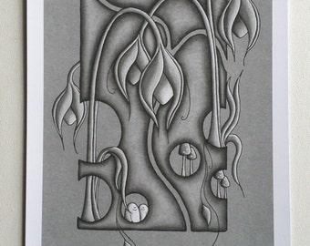 Organic Grey World - Print - Limited Edition