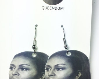 Michelle Obama Earrings, Michelle Obama Jewelry, Barack Obama, First Lady, Celebrity Jewelry