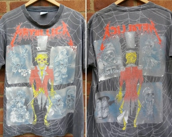 Vintage 1992 METALLICA  - Pushead shirt. - METAL - T.Shirt  - Size XL