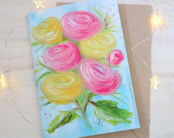 Vintage Romance Floral Abstract Pretty Greeting Card