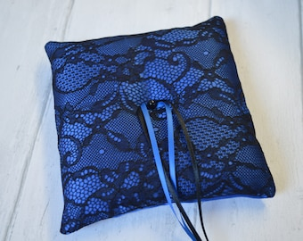 Ring pillow. Gothic Burlesque wedding ring cushion.