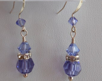 Simple Elegance Earrings in Tanzanite