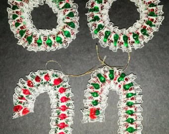 4 Piece Christmas Ornament Set