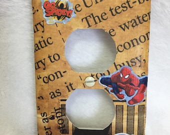 Switch plate outlet cover Spiderman