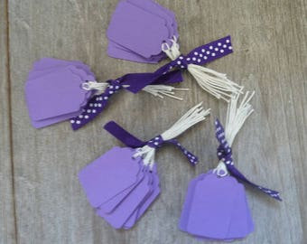 40 tags medium purple cotton