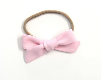 Light Pink Medium Knotted Bow