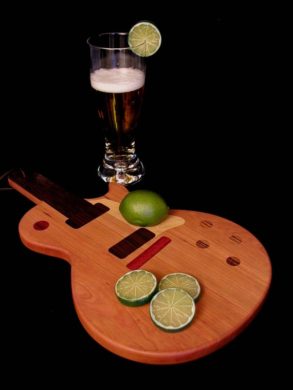 Custom Les Paul Guitar Cutting Board