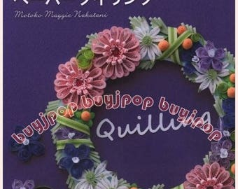 Japaense Craft Pattern Book Origami Paper Quilling Flower Applique Deco