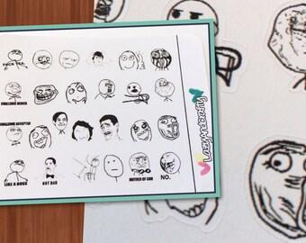 Meme stickers - Funny - Planner Stickers - Erin Condren, Happy Planner, Filofax, and more!