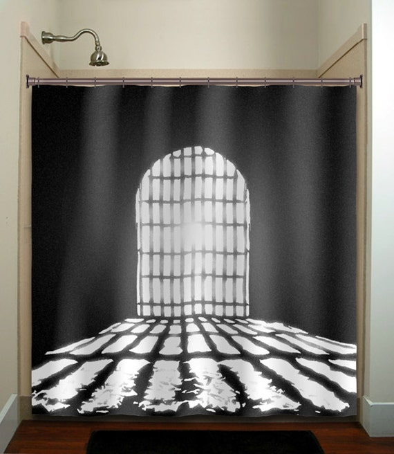 Dungeon Cell Castle Door Shower Curtain Extra Long Fabric